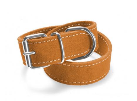 Record – Collare Camoscio Doppio arancione. Taglia M