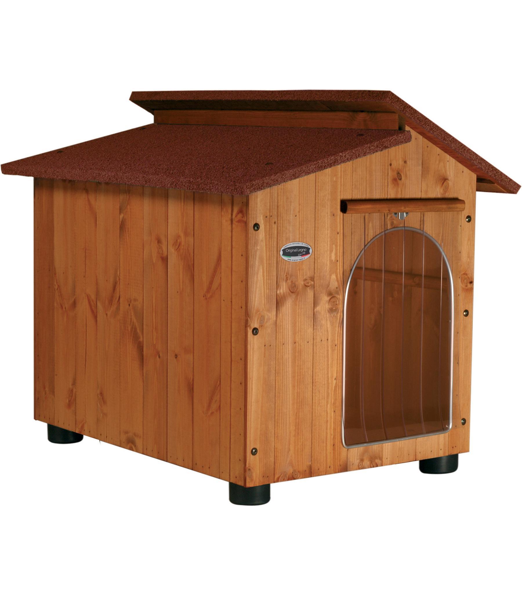 Cuccia in robusto legno spessore 15mm adatta per l'esterno.