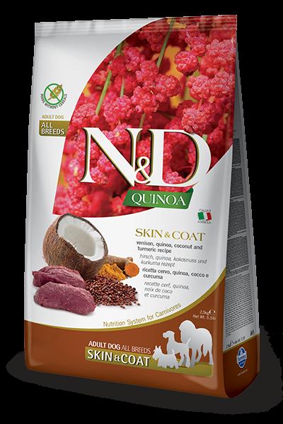 Farmina - N&D Quinoa Canine Skin & Coat Cervo. 800gr