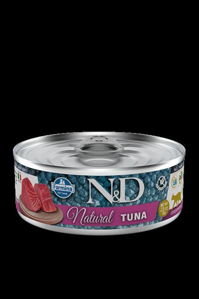 Farmina - N&D Umido Cat Natural Tonno. 80gr