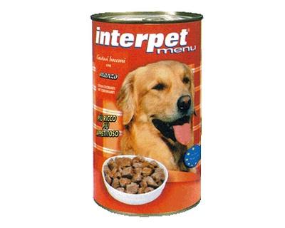 Interpet - Umido Cani Bocconcini Manzo. 1250gr