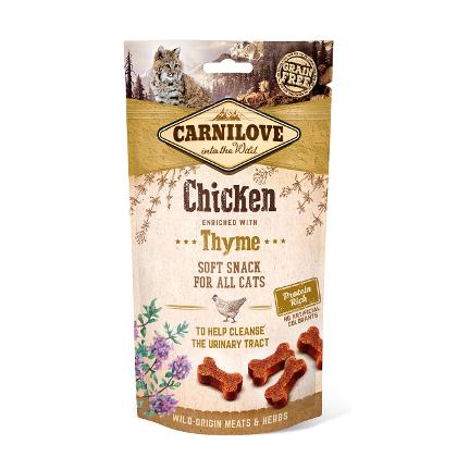 Carnilove - Cat snack semiumido pollo timo. 50gr