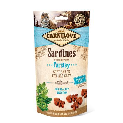 Carnilove - Cat snack semiumido sardine prezzemolo. 50gr