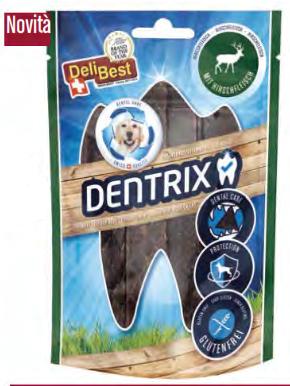 Delibest - Dog snack Dentrix con Cervo fresco. 70gr