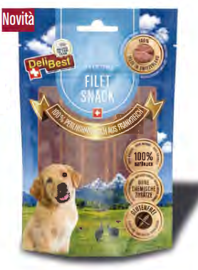 Delibest - Dog snack 100% filetto di Faraona francese. 90gr