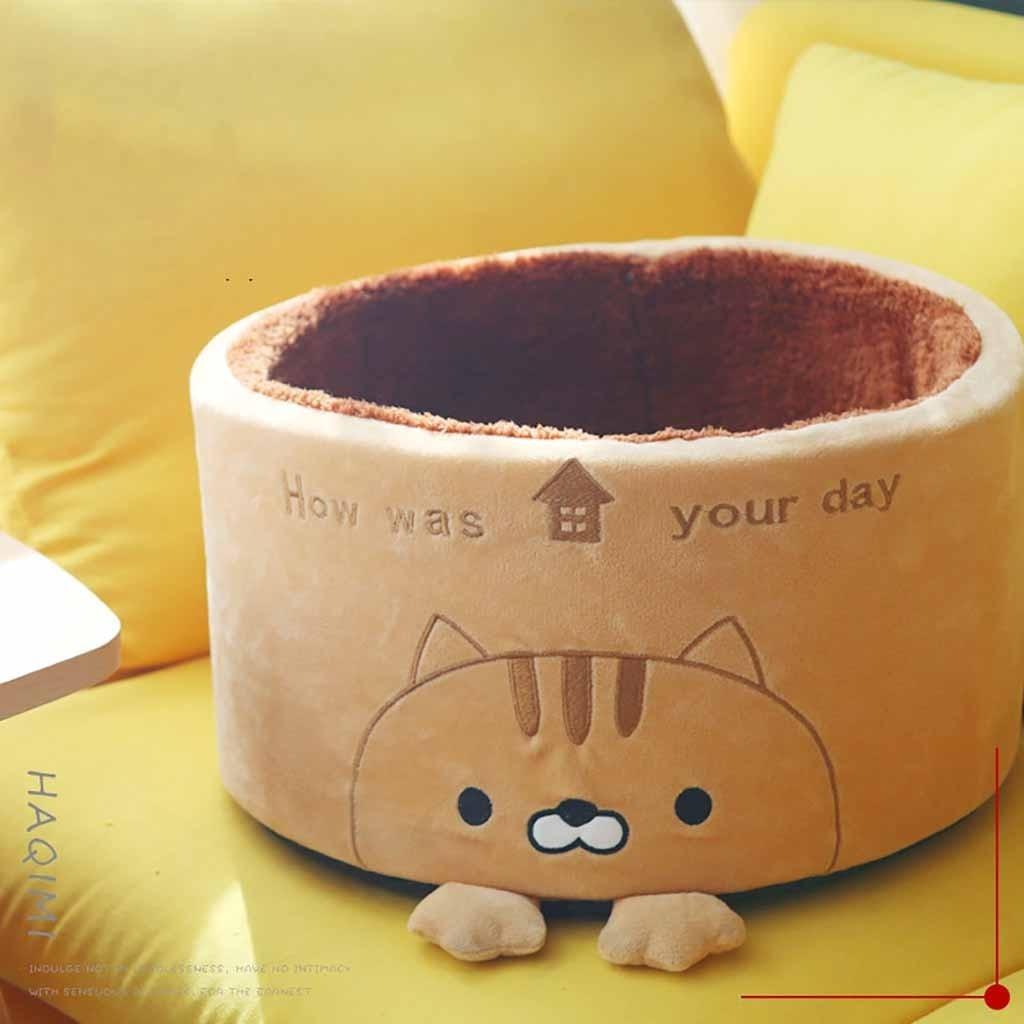 Cuccia con Zampette e cuscino per Gatti e Cani piccoli. 38x18 cm