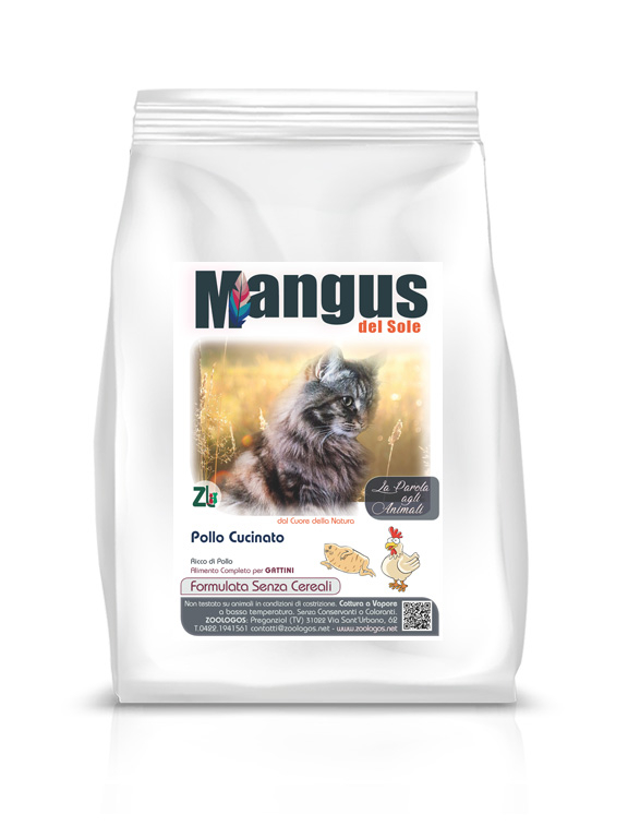 Mangus del Sole - Cat Kitten Grain Free Pollo. 2kg
