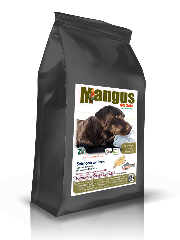 Mangus del Sole - Superfood Dog Grain Free Salmone. 2kg