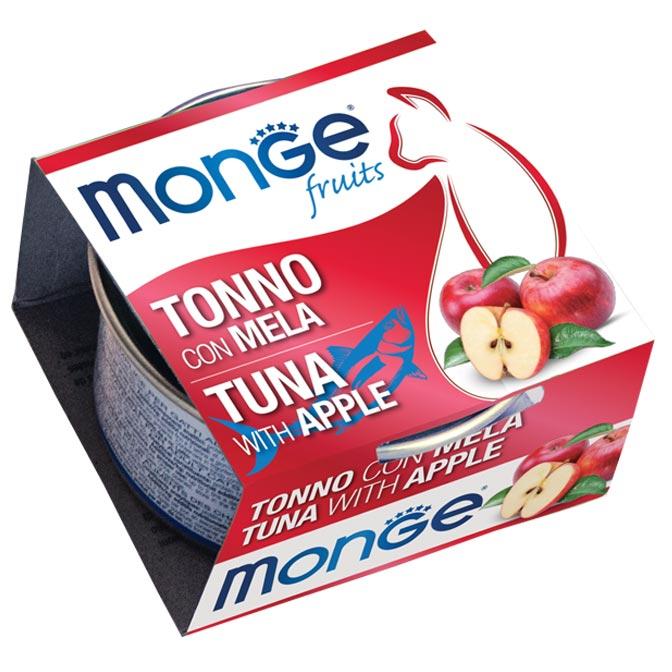 Monge - Cat Fruit Tonno Mela 80gr