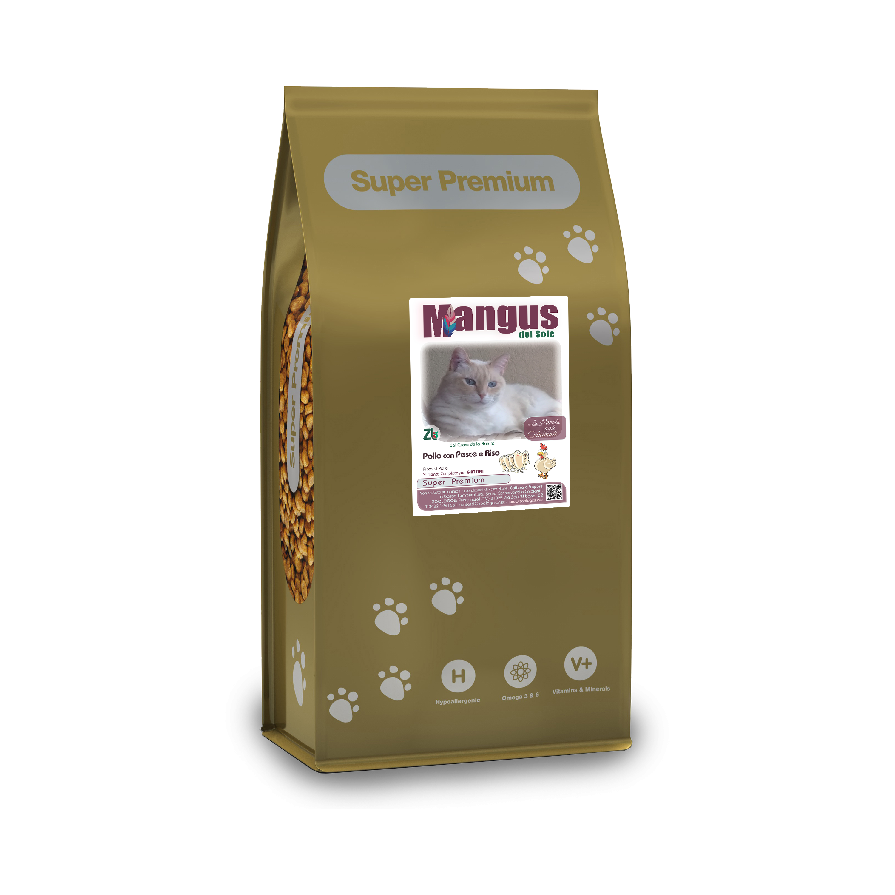 Mangus del Sole - Cat Superpremium Kitten Pollo e Riso. 7.5kg