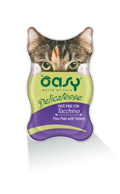 Oasy - Umido Cat Delicatesse - Paté con Tacchino. 85gr