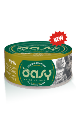 Oasy - Umido Cat More Love - Pollo con Lenticchie. 70gr