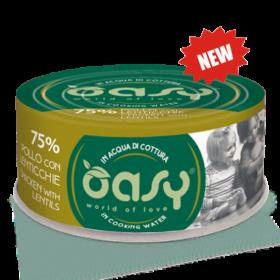 Oasy - Umido Cat More Love - Pollo con Lenticchie. 70gr