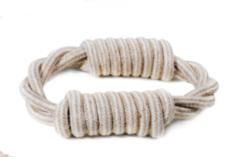 Record - Gioco linea Natural Cotton corda intrecciata. 18cm