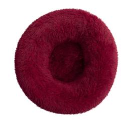 Cuccia Cianbella cuscino soffice in cotone. Rosso scuro diam 70cm