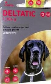 Deltatic - 2 Collari cane antiparassitari. Taglia L